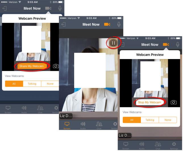 Share your webcam