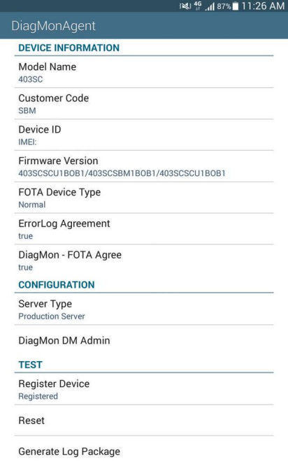 what is diagmonagent android